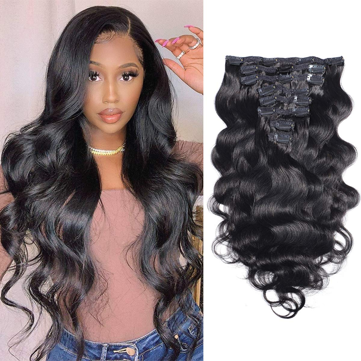 Clip in Hair Extensions Attention brand 100% Unprocessed Do Brazilian Price reduction Human