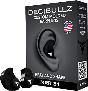 Decibullz – Custom Molded Earplugs, 31dB Highest NRR, Comfortable Hearing..