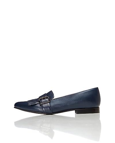 eb9a91f391 Navy Flat Shoes: Amazon.co.uk