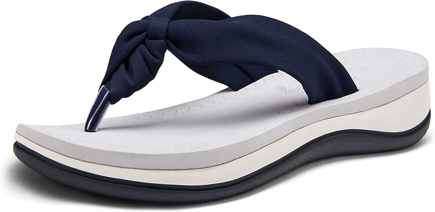 Jeossy Women's Arch Support Flip Flops Sandals Classic Outdoor Shoes Casual Thong Slides