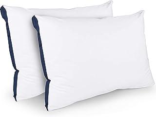 Utopia Bedding Oreillers (Lot de 2) - 45 x 66 cm Coussin Moelleux -Tissu en Coton Mélangé avec Garnissage 3D Fibre Polyest...