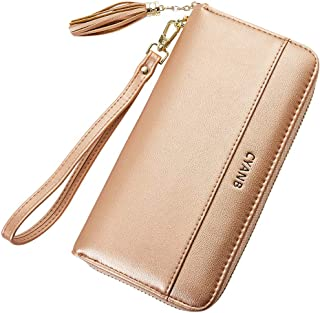 352b95c2e71 Cyanb Women Wallets Tassel Bifold Ladies Cluth Wristlet Wrist strap Long  Purse