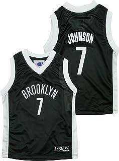 940b01b3 Outerstuff Brooklyn Nets NBA Little Boys Joe Johnson #7 Dazzle Black Jersey