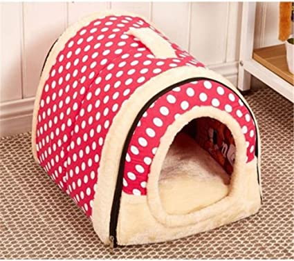 2 In 1 Pet House And Sofa Very Warm Insulated Padded Cosy Cave Bed House Dog Cat Kitten Amazon Co Uk Pet Supplies