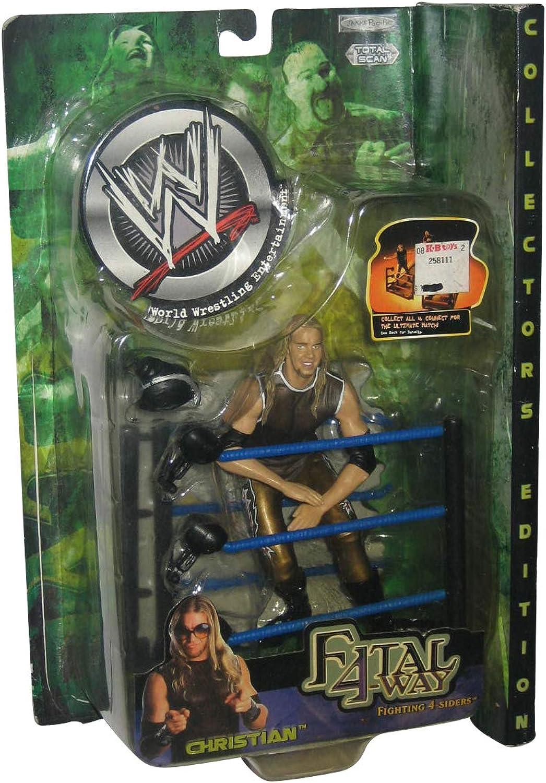 CHRIS JERICHO WWE WWF Jakks Pacific Toy Figure Fatal 4Way Fighting 4Siders Series 3 by Jakks Pacific