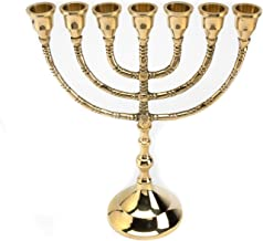 Native Spirit Beautifull 7 Light 6 Branch Hebrew lampstand Menorah Full Size David Light Jewish Israel Holy Land Jerusalem...