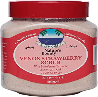 Nature's Bounty Strawberry Venos Face & Body Scrub, 600 ml