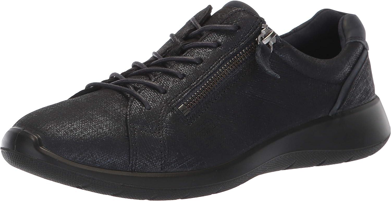 Ecco Womens Soft 5 Side Zip Sneaker