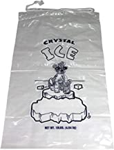 Pinnacle Mercantile Plastic Ice Bags 10 Lb. With Draw String Closure Pack 100