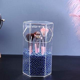 Acrylic Makeup Brush Storage Box,dressing Table Storage Box,makeup Brush Bucket,pen Holder,desktop Storage Box,makeup Brus...