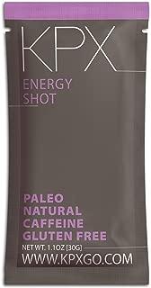 KPX Keto Caffeinated Chocolate Energy Snack, 100mg Caffeine - Macadamia Nut Fat Bomb Low Carb Granola Cereal - Gluten Free & Grain Free Coffee Bar Alternative (1.1 Ounce Shot, 10 Pack)