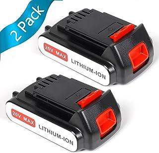 Decker gkc1825lst de QW 18/V 2.0/Ah motosierras Black longitud m/áxima 180/mm de di/ámetro tipo de potencia gkc1825lst incluye Smart Tech bater/ía de ion de litio y cargador 25/cm