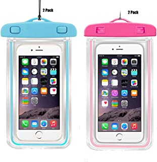 CaseHQ [4PacK] Waterproof Case Universal Cellphone Dry Bag Pouch for iPhone 8,8plus,7,7PLUS 6S, 6, 6S Plus, SE, 5S, Samsung Galaxy S8,S8plus, S7, S6,LG Sony Nokia Motorola up to 5.8
