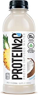 Protein2o 15g Whey Protein Infused Water, Tropical Coconut, 16.9 oz Bottle (Pack of 12)