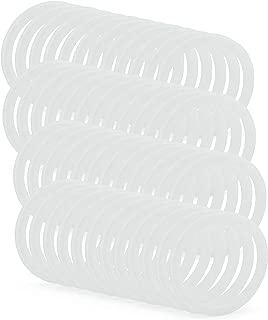 Cornucopia Silicone Seal Rings for Plastic Mason Jar Lids (Regular Mouth, 48-Pack)