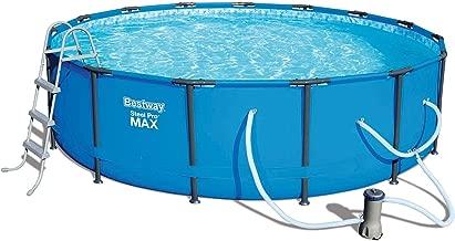 Bestway 15ft x 42in Steel Pro Max Round Frame Above Ground Pool w/Filter Pump