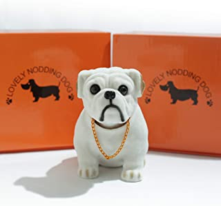 HELLO BAMBOO Bobbing Head Dog-Cartoon Car Dashboard Decors Toy Bulldog /Interior Decoration, Kid's Gift