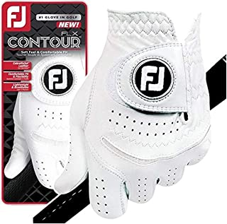 FootJoy New Contour FLX Flex Men's Premium Golf Glove w/CabrettaSof Leather #1 Glove in Golf (Large, Worn on Left Hand)