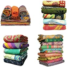 rajwada-fashionIndian Tribal Kantha Quilts Vintage Cotton Bed Cover Throw Old Sari Made Assorted Patches Made Rally Whole ...