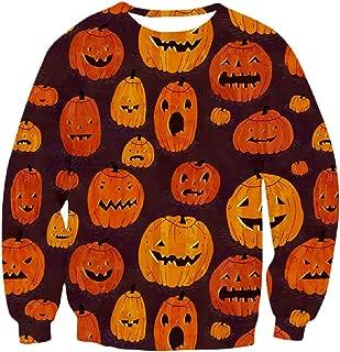 Women Men Halloween Costume Pullover 3D Digital Print Horror Scary Festival Sweatshirt Blouse