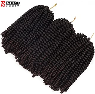 3 Pack Spring Twist Ombre Colors Crochet Braids Synthetic Braiding Hair Extensions Low Temperature Fiber (T1B 33)