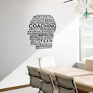 Vinyl Wall Art Decal - Motivational Head Coaching Words - 40