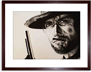 The Art Stop Painting Clint Eastwood Good Bad Ugly Maguire Framed Print F97X2996