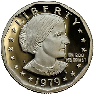 1979-S Type 2 Susan B. Anthony Proof Dollar Clear S T2 Dollar Coin
