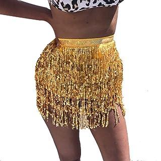 Glitter Rock Dance Frange Signore Gonna A Classiche Corta Muro E Paillettes Danza Gonna Britannico Fashion Party Stile E C...