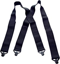 product image for Holdup Hidden Undergarment Black 2 inch wide Suspenders with Jumbo Gripper Clasp