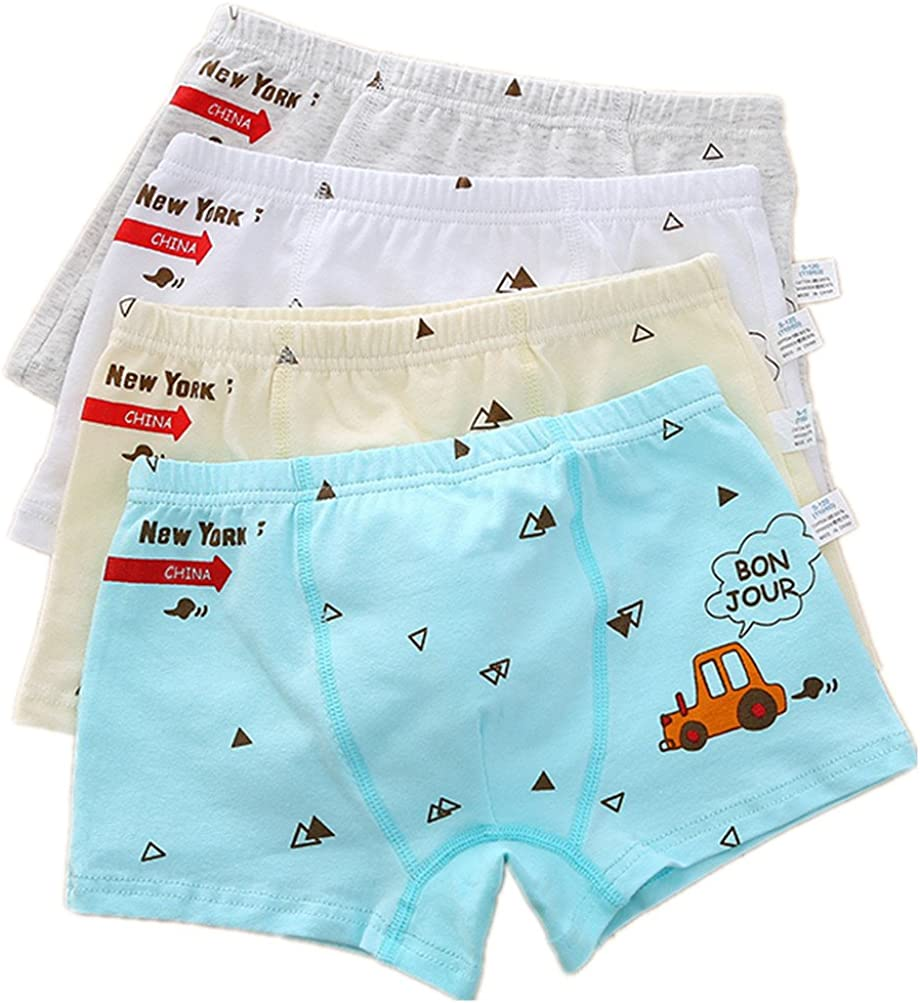 Yzjcafriz Boy's Journey Boxer Birefs Seamless Short Underwear Pack of 4