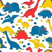 Papel de Parede Infantil Dinossauros Bobinex Uau Multicolorido