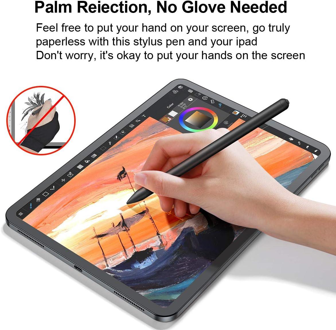 11//12,9 3//4a Gen 3//4a Gen 6//7//8a Gen 5a Gen //iPad Penna Stilo per iPad 2018-2020,Pulsante fisico,Palm Rejection,Magnetico WOEOA Alta Precisione Pennino Stilo con iPad PRO //iPad Mini //iPad Air