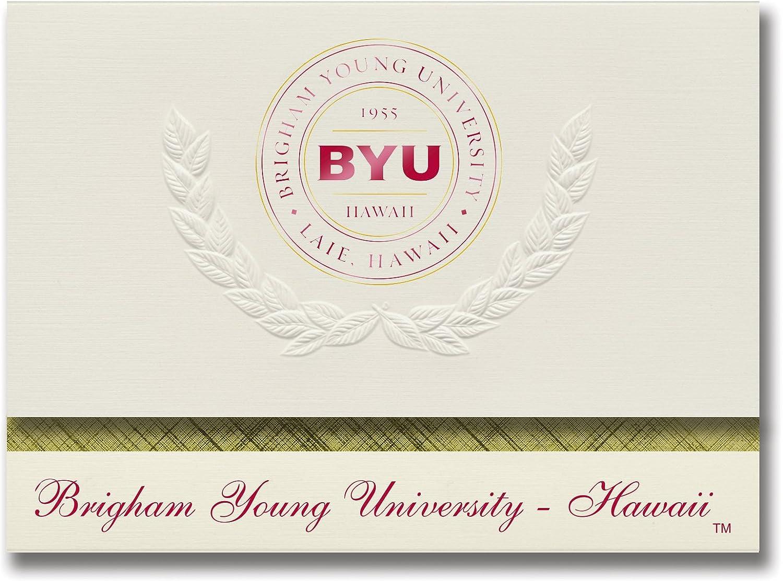 Signature Ankündigungen Brigham (Young (Young (Young Universität Hawaii Graduation Ankündigungen, platin Stil, Elite Pack 20 mit Brigham (Young u. Hawaii Dichtung Folie B0793KCB8C  | Spielen Sie Leidenschaft, spielen Sie die Ernte, spielen Sie die Welt  c64fd1