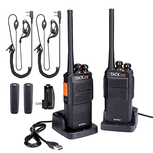 Walkie Talkie Profesional, TACKLIFE-MTR01 Talkie walkie Recargable 3-4 Km con 16