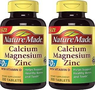 Nature Made Calcium, Magnesium & Zinc w. Vitamin D Tablets Value Size 300 Ct (2)