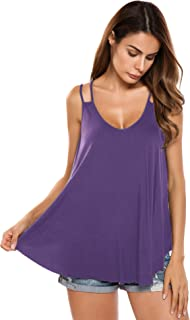 purple flowy tank top