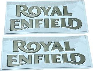 Enfield County 1 Paar Royal Enfield Benzintank, goldenes Logo Emblem, Monogramm