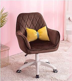 LYJBD Silla de Oficina en casa Cojín Grueso Cojín Flexible y cómodo Silla de Escritorio sin Brazos Silla ergonómica para computadora con Altura Ajustable para Mujeres y Hombres en el hogar