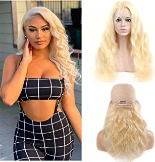 Blonde Wig Body Wave 4x4 Lace Closure With Baby Hair Brazilian Remy Hair Colored Pre Plucked Glueless Natural Hairline For...