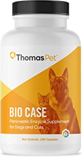 Thomas Labs Bio Case - Pancreatic Enzyme Supplement for Dogs & Cats - Digestive Aid - (240 Capsules)