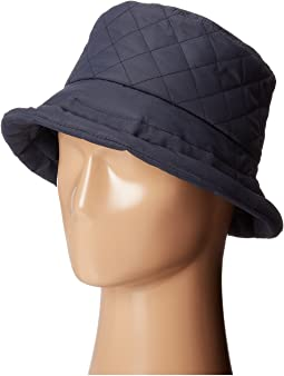 Quilted Rain Bucket Hat w/ Fleece Lining