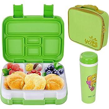 Voiks Fiambreras con Compartimentos Caja de Almuerzo sin BPA Fiambreras Infantiles a Prueba de Fugas Loncheras para Ni/ños 1 Pieza(Color al azar)