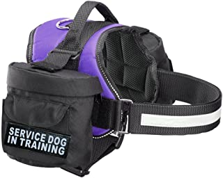 Doggie Stylz Service Dog in Training Harness with Removable Saddle Bag Dogs Backpack Harness Pack Carrier. 2 Removable Patches. Please Measure Dog Before Ordering. Made