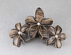 Black Brown Plumeria Hair Clip Hawaiian Flower Barrette Alligator Claw Clamp Jaw Colored Hair Clips For Women Girls