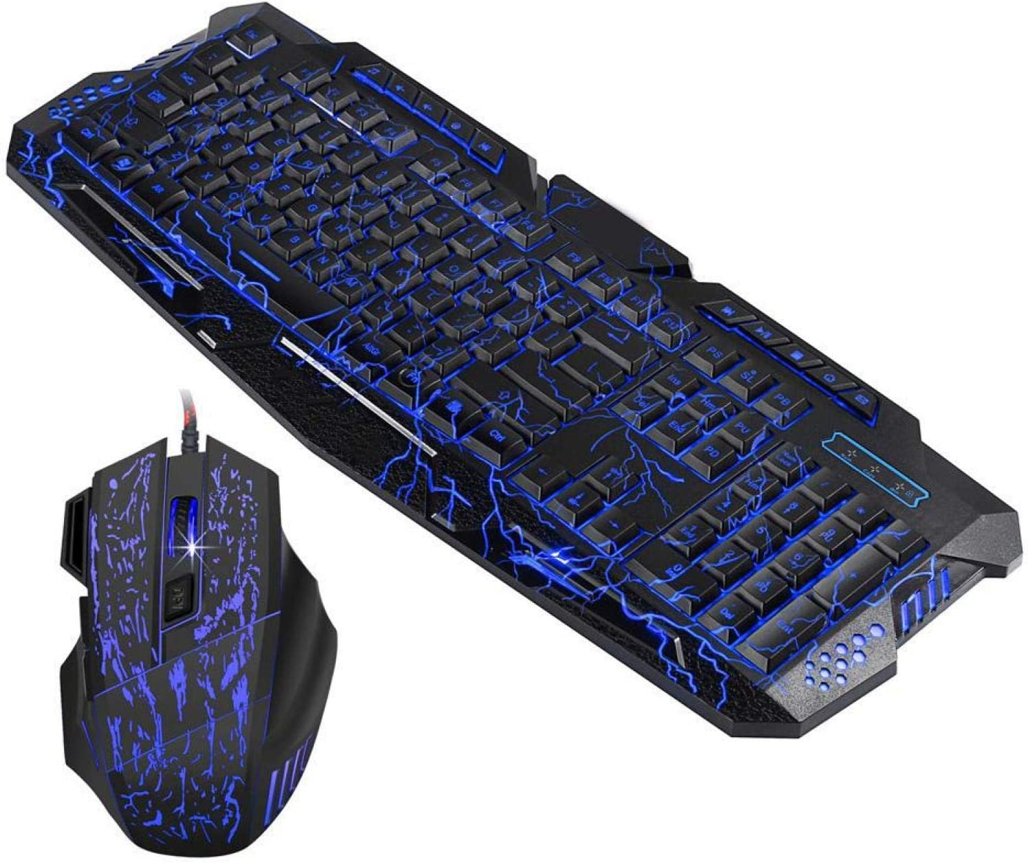 Wired Mouse Backlit Simple Computer Accessory Keyboard Mouse Set Practical Mechanical Keyboard for Desktop for Computer