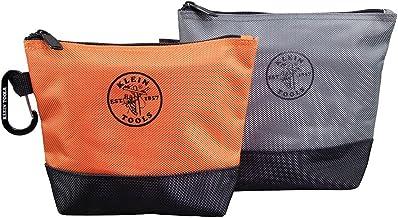 Klein Tools Fermuarlı alet çantası, turuncu/siyah, gri/siyah, 31,8 cm kanvas, 2 adet küçük alet 55470