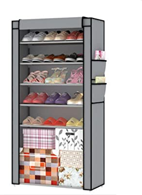 Estanterías para zapatos Armarios de calzado Cajas de almacenamiento Armarios de almacenamiento Armarios de zapatos de tela simples multifuncionales Armarios de zapato de combinación para el hogar