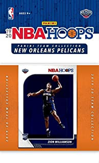 New Orleans Pelicans 2019 2020 Hoops Basketball Factory Sealed 11 Card Team Set Featuring Zion Williamson Rookie Card and Jrue Holiday Plus