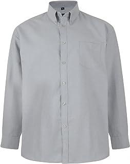 Kam Oxford Classic Long Sleeve Shirt - Grey